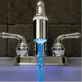 Bezpečnostní kohoutky svítící podle teploty vody