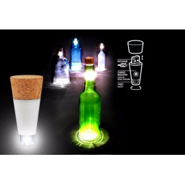 LED světelná zátka do láhve, nabíjecí USB