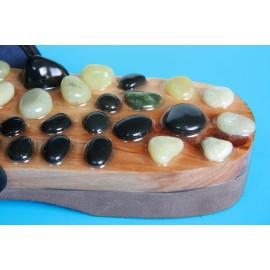 Akupresurní pantofle s přírodními kameny L (42-44)