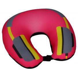 Cestovní polštář podkova růžová - sluchátka