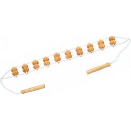 Dřevěný masážní pás na záda