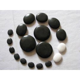Lávové masážní kameny 46ks Basalt