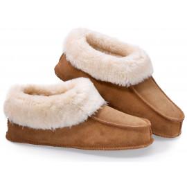 Luxusní hřejivé papuče z pravé kůže L (43-46)