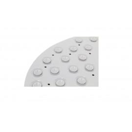 Masážní protiskluzová podložka do koupelny s magnety bílá 70 x 39 cm