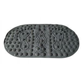 Masážní protiskluzová podložka do koupelny s magnety šedá 70 x 39 cm