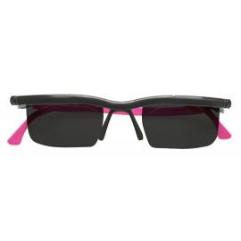 Nastavitelné dioptrické sluneční brýle Adlens, růžové