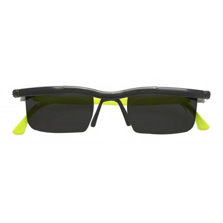 Nastavitelné dioptrické sluneční brýle Adlens, zelené