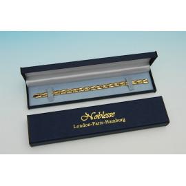 Ocelový náramek s magnety zlatý