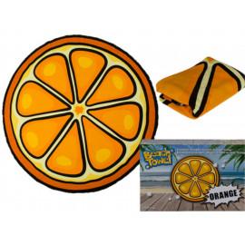 Plážová osuška kulatá Pomeranč 150 cm