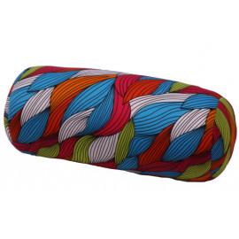 Relaxační polštář válec - barevné listy