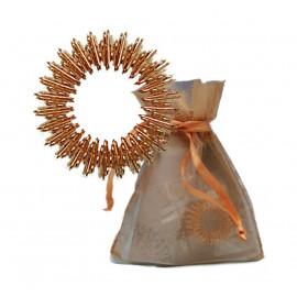 Zlatý akupresurní prstýnek - zlatý sáček