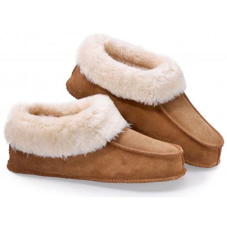 Luxusní hřejivé papuče z pravé kůže S (36-38)